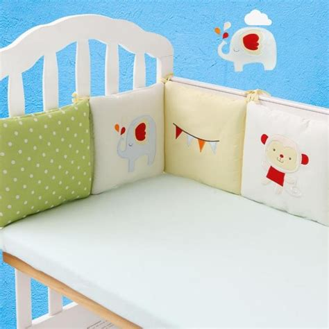 bed bumpers baby crib cot bumper infant toddler bed protector pillow