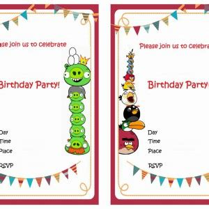 angry birds birthday invitation template free 6 best images of angry birds printable invitations free