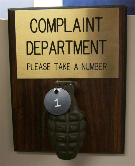 Complaint Department by File Complaint Department Grenade Jpg