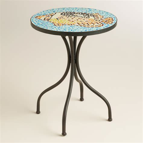 mosaic accent table fish mosaic cadiz accent table world market