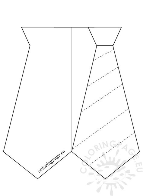 tie template for card tie s day craft card coloring page