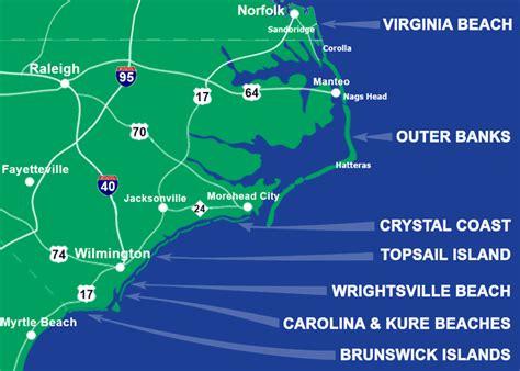 map of carolina coast carolina and virginia vacation rentals 11 000 houses condos for rent