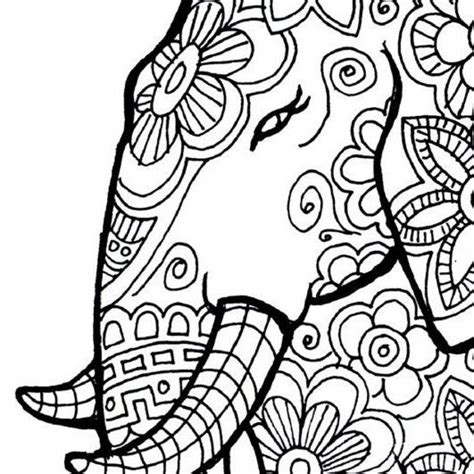 coloring pages for free printable get this free printable elephant coloring pages for adults