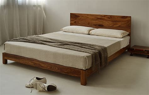 bed with low headboard sonora solid low wooden beds natural bed company