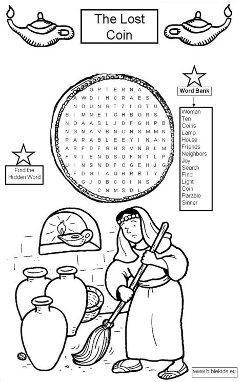 free parable of the lost coin coloring pages