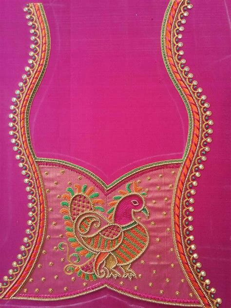 Embroidery Sabrina Blouse 5 design blouse blouse designs embroidery and saree
