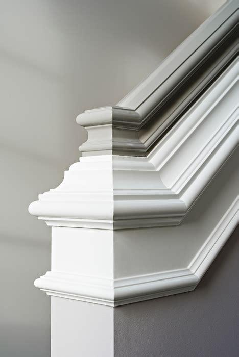 banister design two tone handrail transitional entrance foyer elizabeth kimberly design