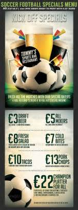 Football Menu Templates by Soccer Football Bar Flyer Menu Template Graphicriver