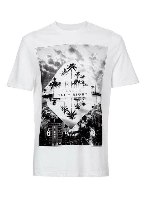 White Printed T Shirt Mens by White Cancun Print T Shirt S T Shirts Tanks Clothing Topman Usa Tees Printed