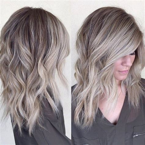 ash blond with grey highlights grayish blonde hair hairstyles pinterest blondes
