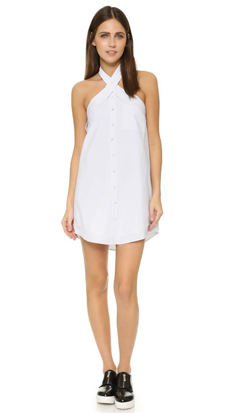 Mini Dress White Nerima joa button front mini dress in white white lyst