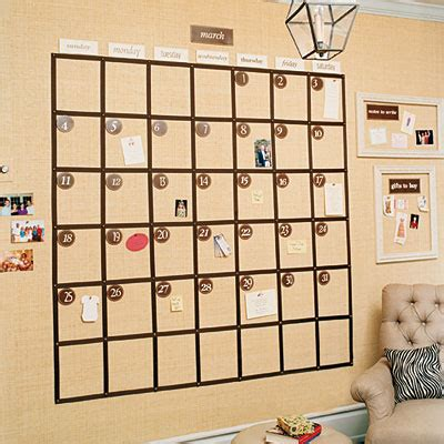 Calendar For Home Corkboard Wall Calendars For The Home Office Girlypc