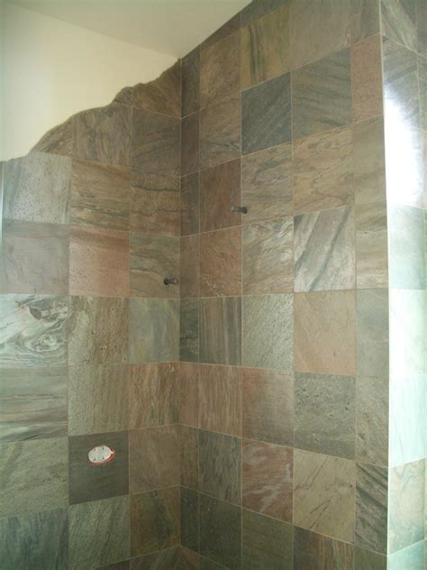 pictures  slate tile  bathroom shower