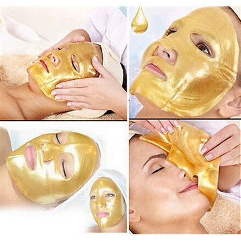 Aqua Collagen Gold Mask 5x gold collagen mask anti aging moisturizing skin care i
