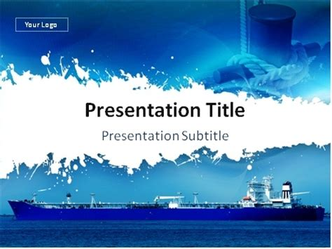 themes for powerpoint ship download large cargo ship and mooring line over blue
