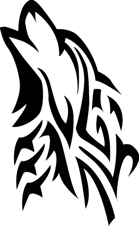 tribal wolf vector by souklin on deviantart