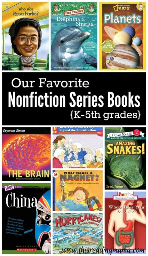 picture book series favorite nonfiction series books for k 5th grades
