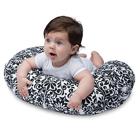 boppy nursing pillow and positioner brocade black and white