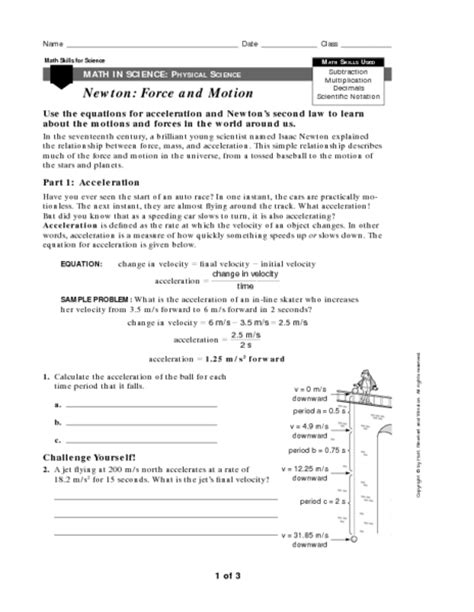 And Motion Worksheets by Collection Of And Motion Worksheets 5th Grade Ommunist