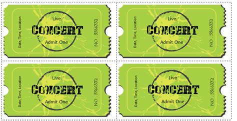 concert ticket templates 6 ticket templates for word to design your own free tickets