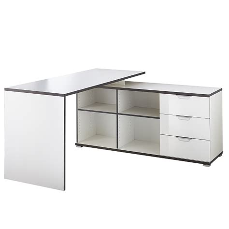 Corner Computer Desk With Storage Alantra Wooden Corner Computer Desk In White With Storage