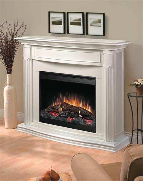 White Mantel Electric Fireplace by White Electric Fireplace Mantel Package