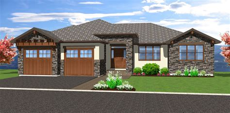 hillside house plans with walkout basement spacious hillside home with walkout basement 67702mg