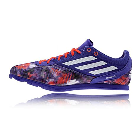 spikes athletic shoes adidas arriba 4 mens blue orange running track