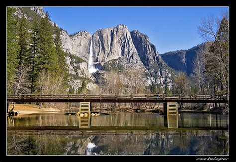 Swinging Bridge And Yosemite Falls Flickr Photo Sharing