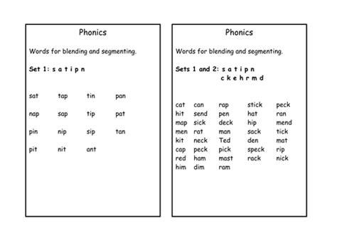 words for blending and segmenting by cariad2 teaching resources tes