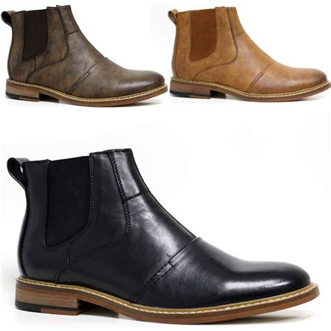 mens leather chelsea boots uk mens leather chelsea boots smart formal ankle army