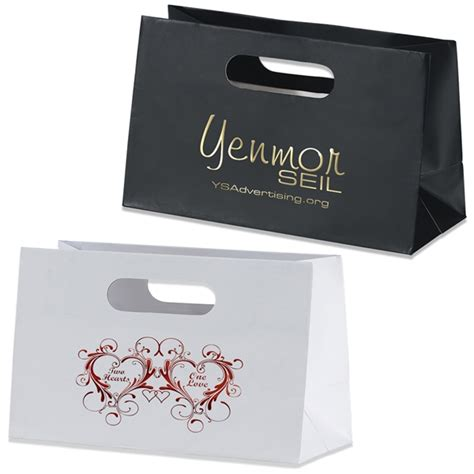 Paper Bag Custom promotional boutique die cut shopper paper bag 33b106