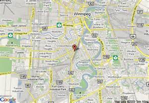 map of quality inn and suites winnipeg winnipeg