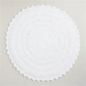 White Bathroom Rugs White Bath Mat World Market