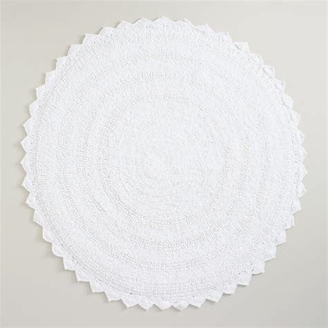 White Bathroom Rug White Bath Mat World Market