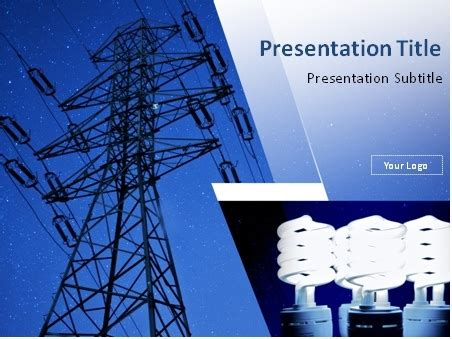 electrical templates for powerpoint free download download power line and light bulbs powerpoint template