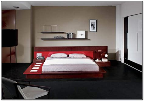 modern style bed platform bed with lights galaxy contemporary style bedroom