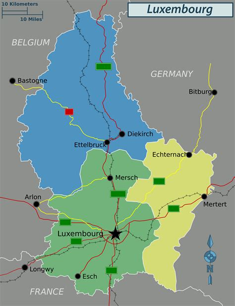 luxembourg map political map of luxembourg luxembourg political map vidiani maps of all countries in