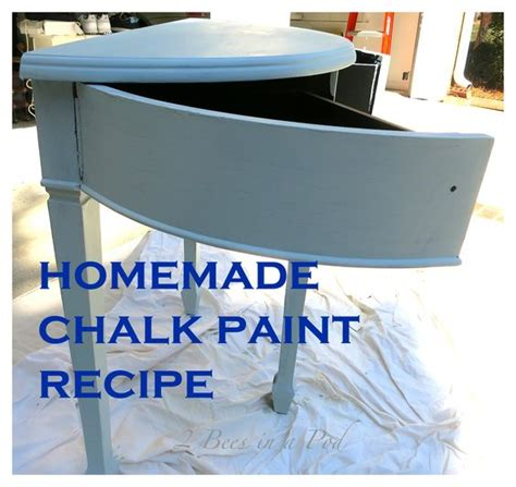 chalk paint recipe using plaster of chalk paint and a table makeover we