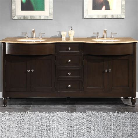 6717 t 72 72 sink vanity travertine top cabinet