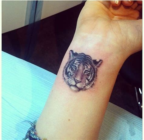 elbow to wrist tattoos tiger on wrist s tiger