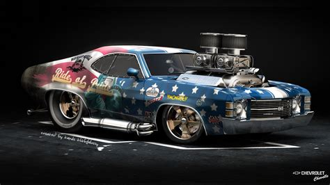 American Car Wallpaper Wall Best by 1366x768 American Car Chevrolet Chavelle Ss Hod