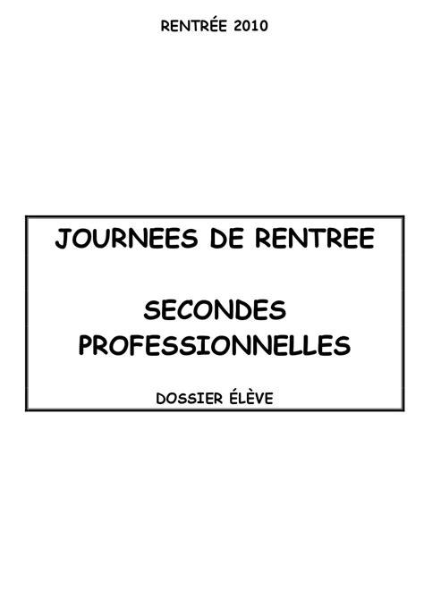 Cahier de bord - Seconde professionnelle by Denoyelle