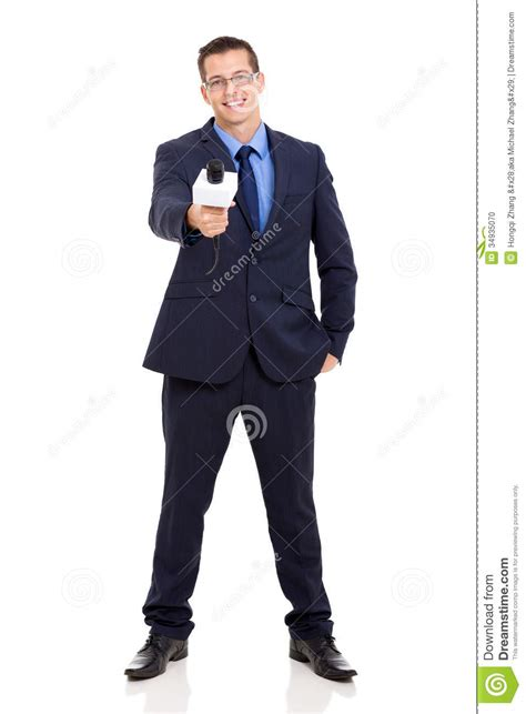 The Reporter news reporter interviewing stock photo image 34935070