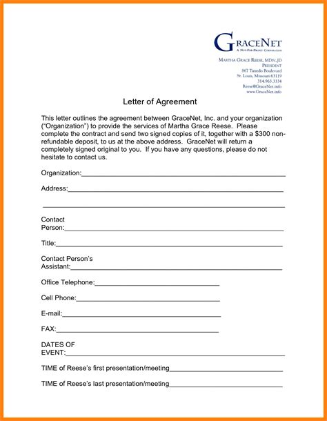 4 payment agreement letter between two parties