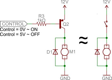 pnp transistor as switch circuit transistors learn sparkfun
