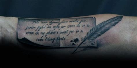 scroll writing tattoo designs feather amazing scroll tattoos golfian