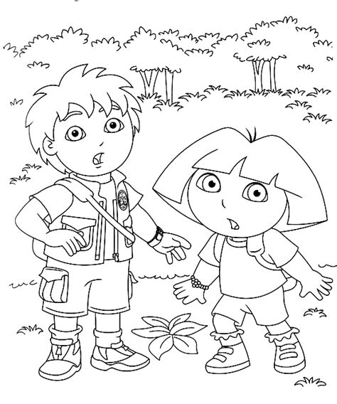 free coloring pages dora and diego dora and diego color page