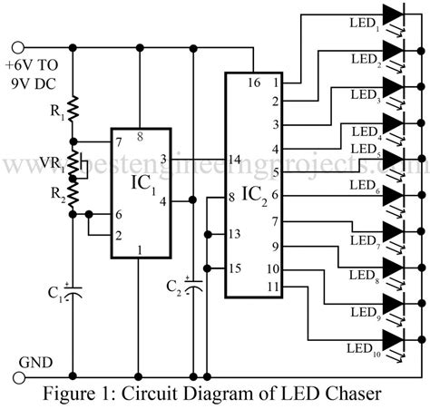 light chaser circuit diagram 3 led chaser circuit diagram 3 get free image about