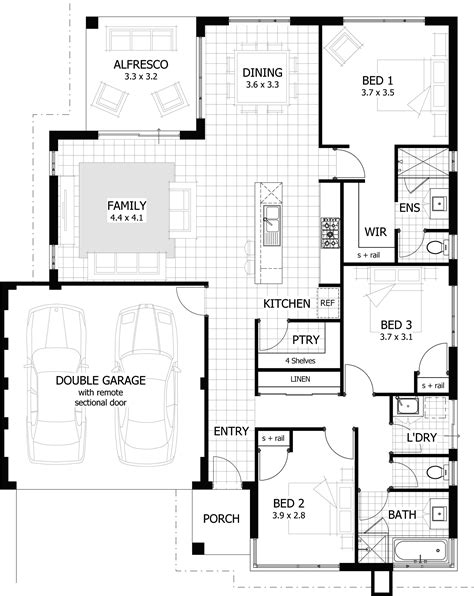 4 bedroom house plans 1 story 5 3 2 bath floor best